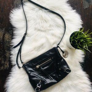 MICHAEL KORS Black Leather Crossbody Purse EUC